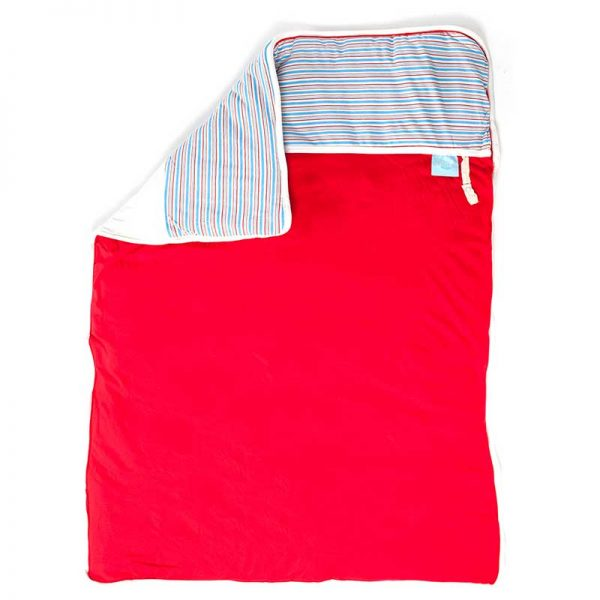 72900157226121 600x600 - שמיכת חורף גדולה פסים אדום על לבן