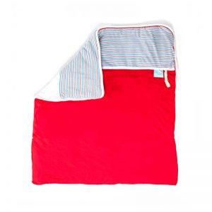 7290015722636 300x300 - שמיכה עבה לעריסה אדום פסים על לבן