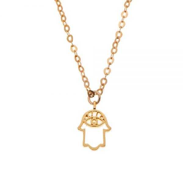 7290111691799 600x600 - gitta Bijoux שרשרת חמסה זהב