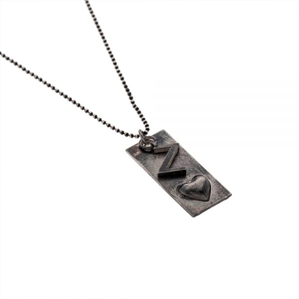 double dark silver 600x600 - gitta Bijoux צ'ארם כסף מושחר תוספת לשרשרת או צמיד