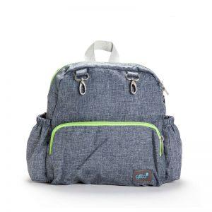 72900164932761 2 300x300 - תיק גן gitta Mini Total ג'ינס כחול רוכסן ירוק