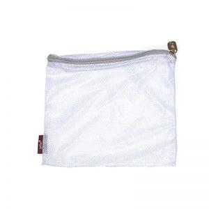 regular white wet net silver zipper 300x300 - שק כביסה לבן רוכסן אפור