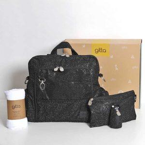 "black glitter w diaper 300x300 - gitta Ideal שחור מנצנץ + מתנה בשווי 130 ש""ח!"
