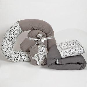 bundles025 300x300 - מארז נחשוש, שמיכה עבה וסדיני מיטה כוכבים אפור