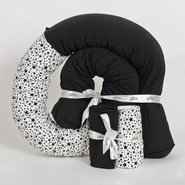 bundles028 600x600 - מארז נחשוש וסדיני מיטה כוכבים שחור