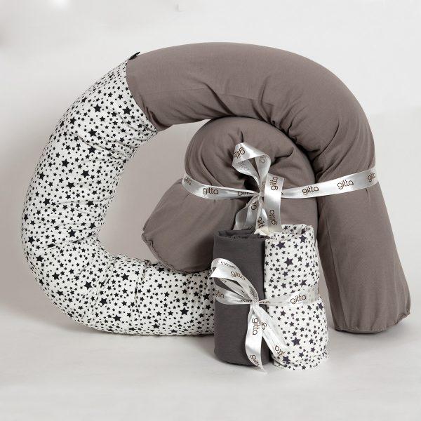 bundles030 600x600 - מארז נחשוש, שמיכה עבה וסדיני מיטה כוכבים שחור