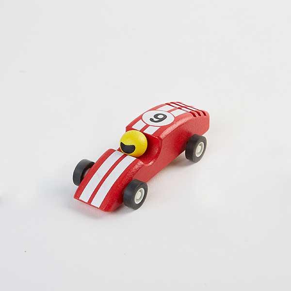 race car red - מכונית מרוץ מעץ - אדום