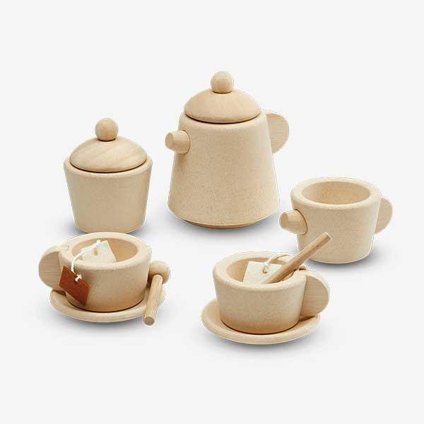 tea set 1b - סט תה מעץ