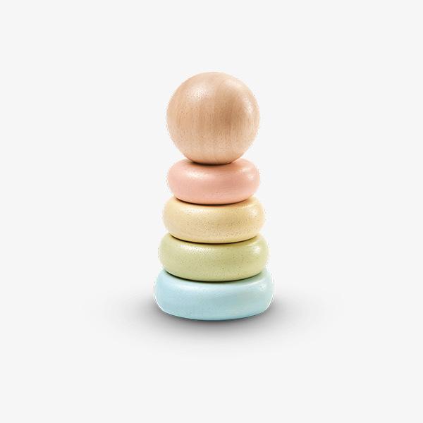 stack ring 2 1 - השחלת טבעות ראשונה פסטל