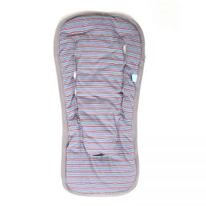 72900157223462 300x300 - Stroller/Carrycot pad red and blue stripes on gray