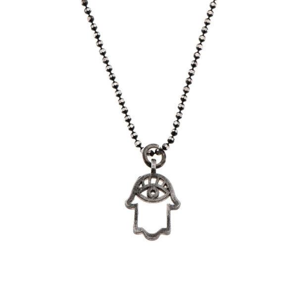 7290111691911 600x600 - gitta bijoux dark silver Hamsa necklace