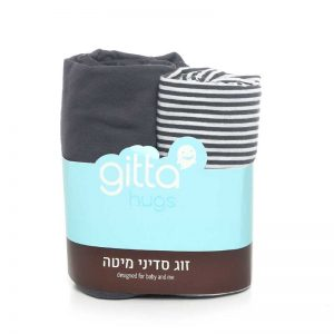 7290111692376 n 300x300 - Bed Sheets Pair dark gray stripes