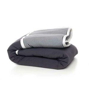 7290111692505 300x300 - gitta Large Duvet dark gray stripes