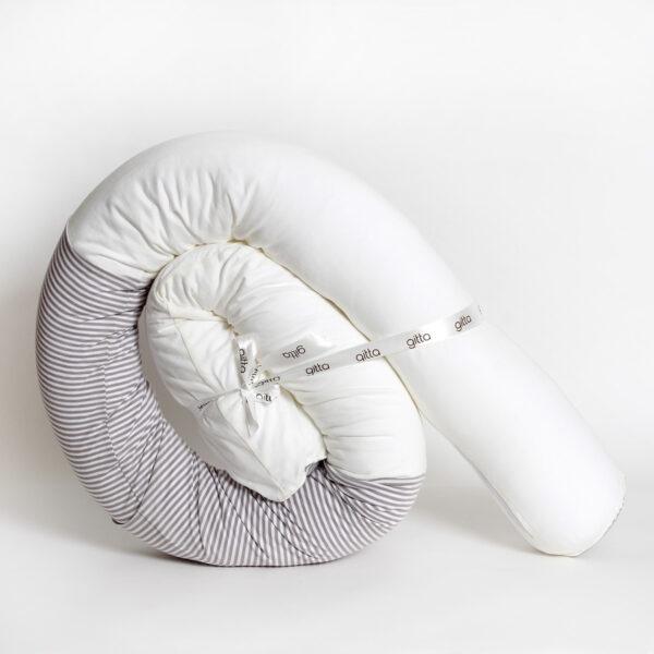 7290111692659 3 600x600 - Newborn snake pillow light gray stripes