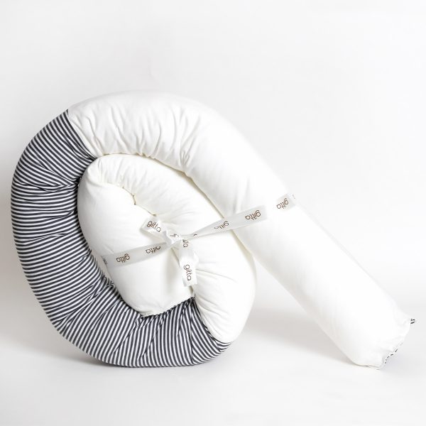 7290111692666 3 600x600 - Newborn snake pillow dark gray stripes