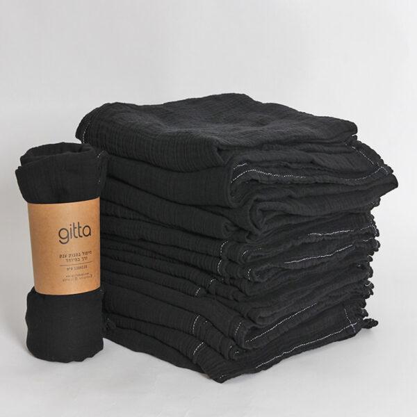 7290111692680 lighter 600x600 - Tie dye bamboo swaddle wrap black