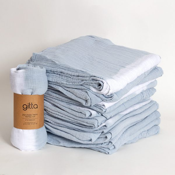 7290111692697 600x600 - Tie dye bamboo swaddle wrap light blue white stripe