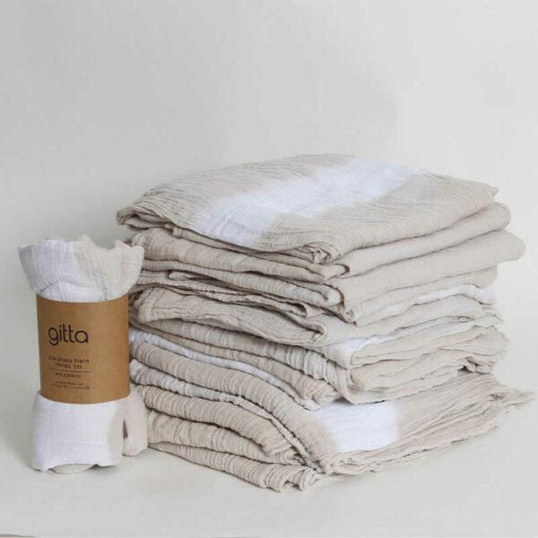 7290111692703 1 600x600 - Tie dye bamboo swaddle wrap stone gray one stripe