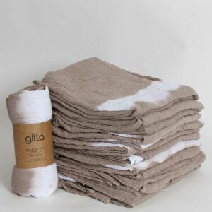7290111692710 1 300x300 - Tie dye bamboo swaddle wrap camel one stripe