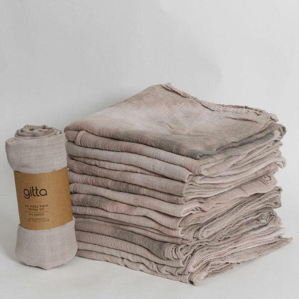 7290111692741 1 optimized 600x600 - Tie dye bamboo swaddle wrap camel tints