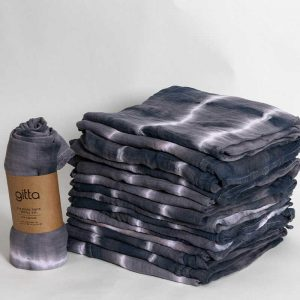 7290111692765 1 optimized 300x300 - Tie dye bamboo swaddle wrap charcoal white stripes