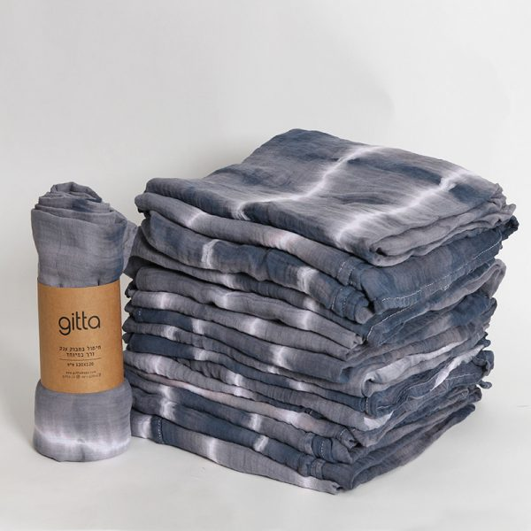 7290111692765 lighter 600x600 - Tie dye bamboo swaddle wrap charcoal white stripes