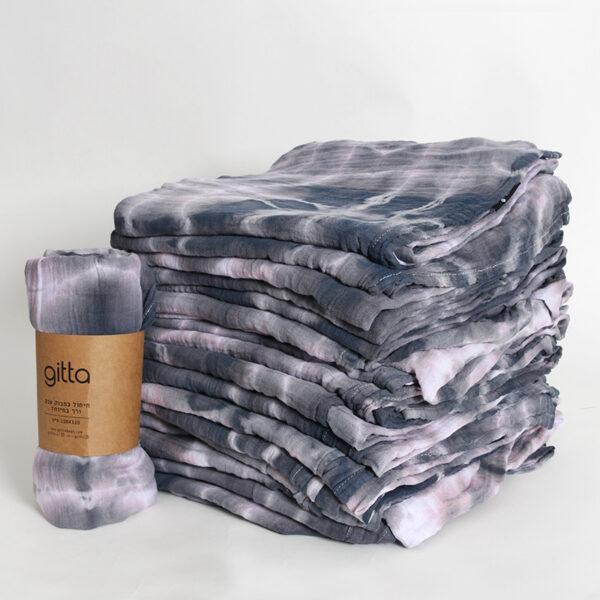 7290111692772 lighter 600x600 - Tie dye bamboo swaddle wrap charcoal swirl