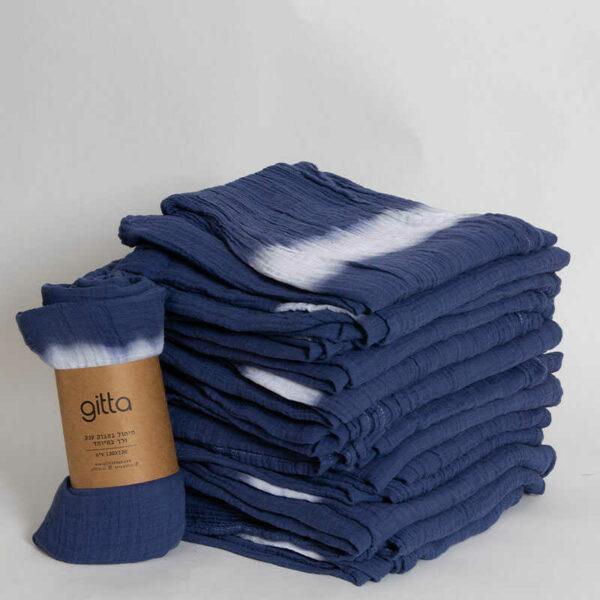 7290111692796 1 optimized 600x600 - Tie dye bamboo swaddle wrap dark blue one stripe