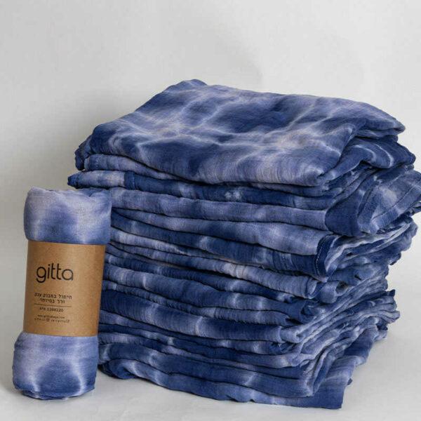 7290111692819 1 optimized 600x600 - Tie dye bamboo swaddle wrap dark blue swirl