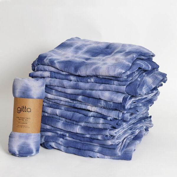 7290111692819 lighter 600x600 - Tie dye bamboo swaddle wrap dark blue swirl